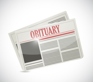 obituary newspaper section illustration design